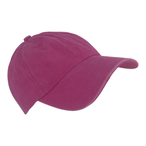 BSTC 6-Panel Baseball Cap, Distressed Cotton, Hot Pink
