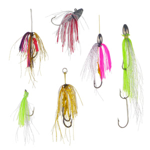 Dekoi Krystal Flash Lure Skirts, White Gold