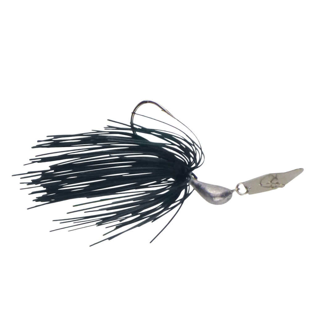 Dekoi 7gm Bladed Swim Jig, Chatterbait, Metallic Seaweed, 2 pack