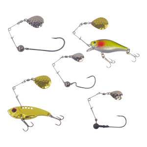 Swimerz Jig Spinner, Medium, Hammered Brass, 5 Pack