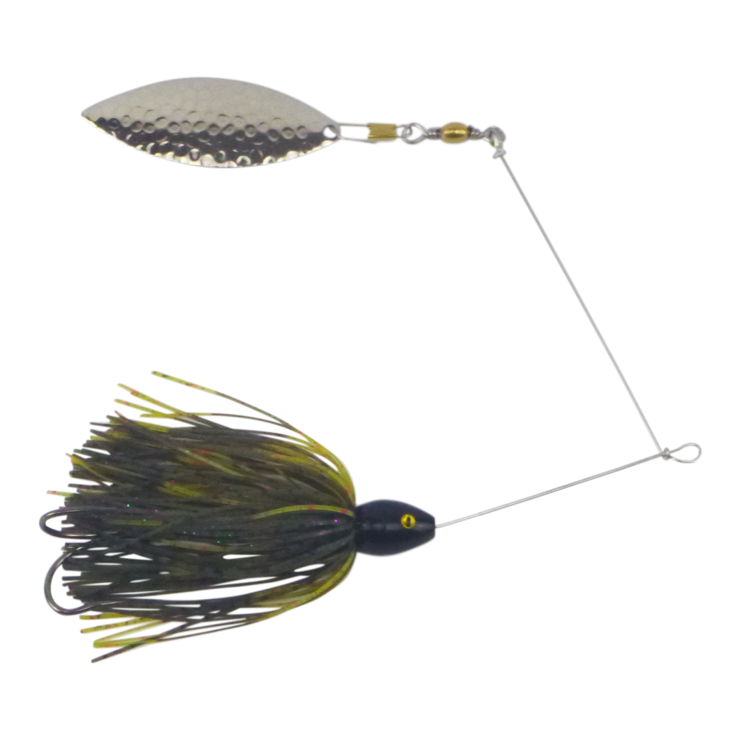 Artizan 'Double Trouble' 3/4oz Candy Craw Spinnerbait, Nickel Blade