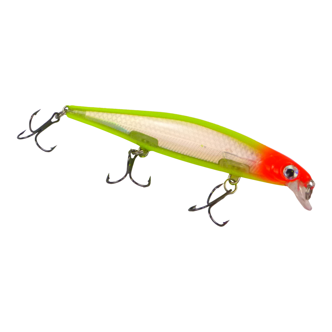 Finesse 'Chudan' Sinking/Diving Minnow, Chartruese