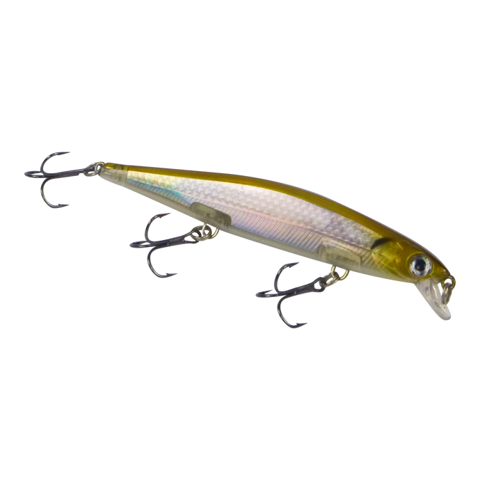 Finesse 'Chudan' Sinking/Diving Minnow, Silver Gold