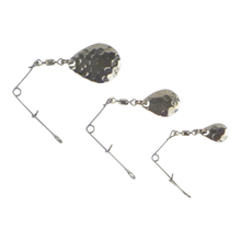 Load image into Gallery viewer, Swimerz Jig Spinner, Medium, Hammered Nickel, 5 Pack