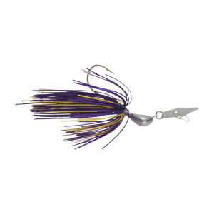 Dekoi 14gm Bladed Swim Jig, Chatterbait, Purple Gold, 2 pack