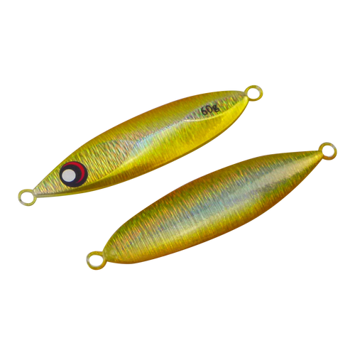 Finesse Slow Pitch Flutter Jig, 60gm, Gold Flash, 2 pack