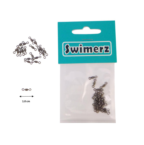 Swimerz Size 8 Rolling Swivels, 20 pack