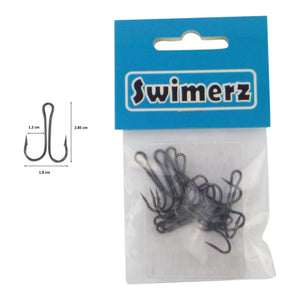Swimerz Size 1 Extra Strong Double Hook 10 Pack