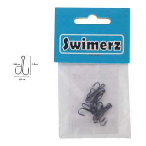 Swimerz Size 8 Extra Strong Double Hook, 10 Pack