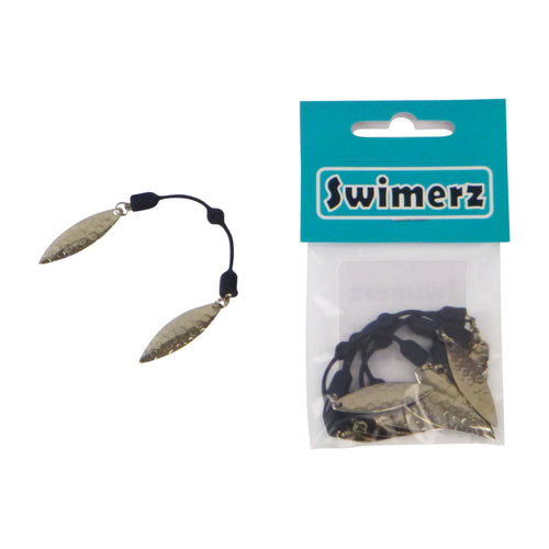 Swimerz Duo Tail Spinner, Hammered Nickel, 5 Pack