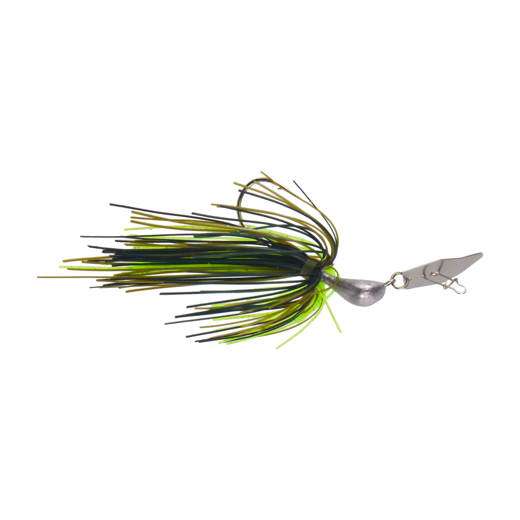Dekoi 14gm Bladed Swim Jig, Chatterbait, Tree Frog, 2 pack
