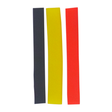 Load image into Gallery viewer, Swimerz Assist Hook Sleeves, 8/10mm Shrink Tube, Black, Yellow & Red, 100mm. Qty 30.