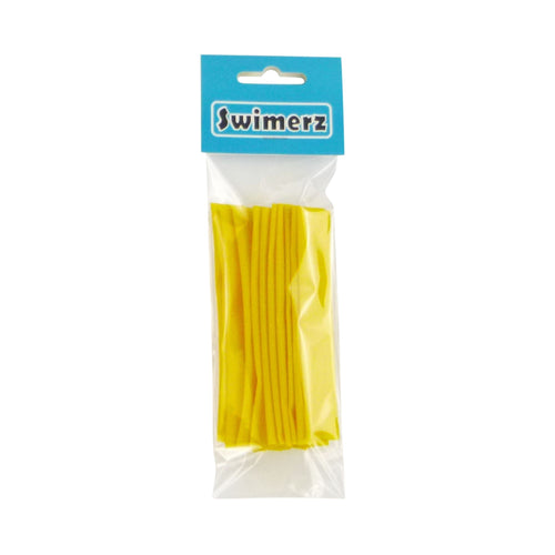 Swimerz Assist Hook Sleeves, 10mm diameter/100mm long Shrink Tubes, Yellow. Qty 10