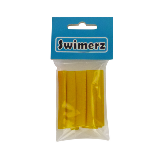 Swimerz Assist Hook Sleeves, 6mm diameter/50mm long Shrink Tube, Yellow. Qty 15
