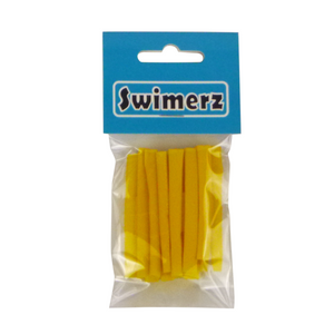 Swimerz Assist Hook Sleeves, 4mm diameter/50mm long Shrink Tube, Yellow. Qty 15