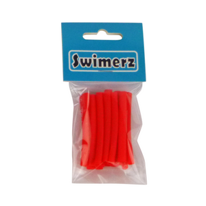 Swimerz Assist Hook Sleeves, 4mm diameter/50mm long Shrink Tube, Red. Qty 15