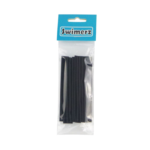 Swimerz Assist Hook Sleeves, 8mm diameter/100mm long Shrink Tubes, Black. Qty 10