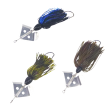 Load image into Gallery viewer, Artizan Inline Buzzbaits Blue Black 3/4oz