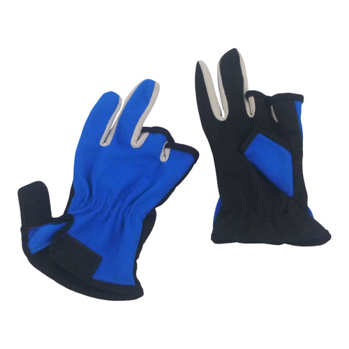 BSTC 3 Finger Gloves, Blue