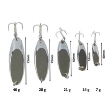 Load image into Gallery viewer, Finesse Chrome Kaster Jig, 40 Grams. Pack of 2 Jigs.