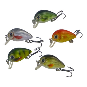 Finesse Tadpoles Diving Crankbait, 30mm, 5 Pack