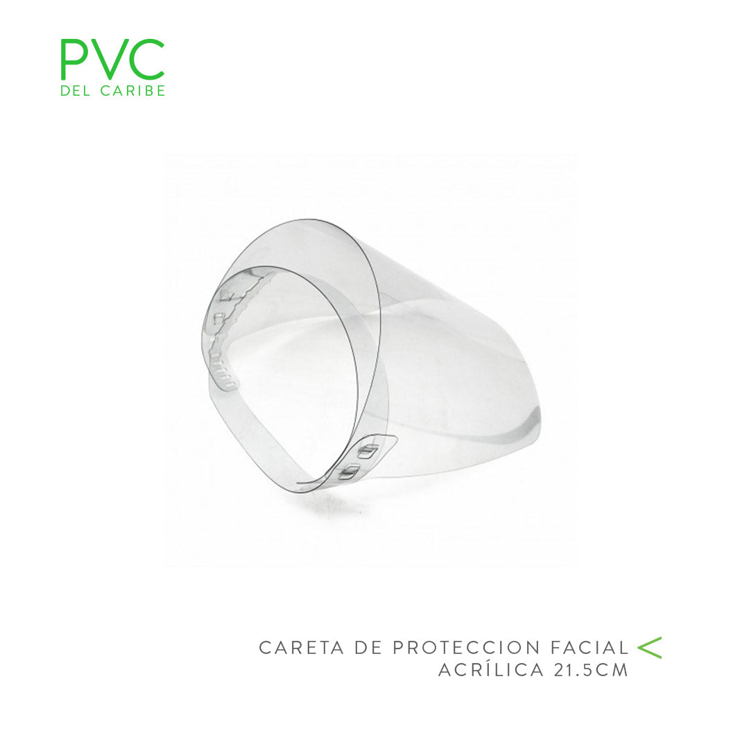 CARETA DE PROTECCION FACIAL ACRILICA 21.5CM