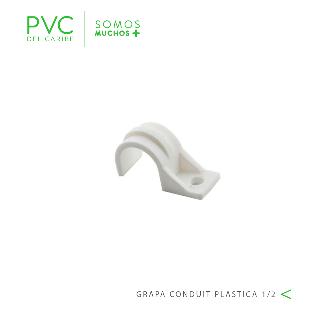 GRAPA CONDUIT PLASTICA 1/2