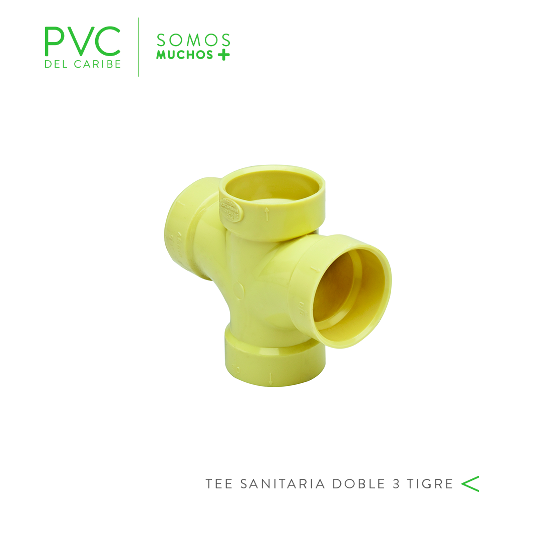 TEE SANITARIA DOBLE 3 TIGRE