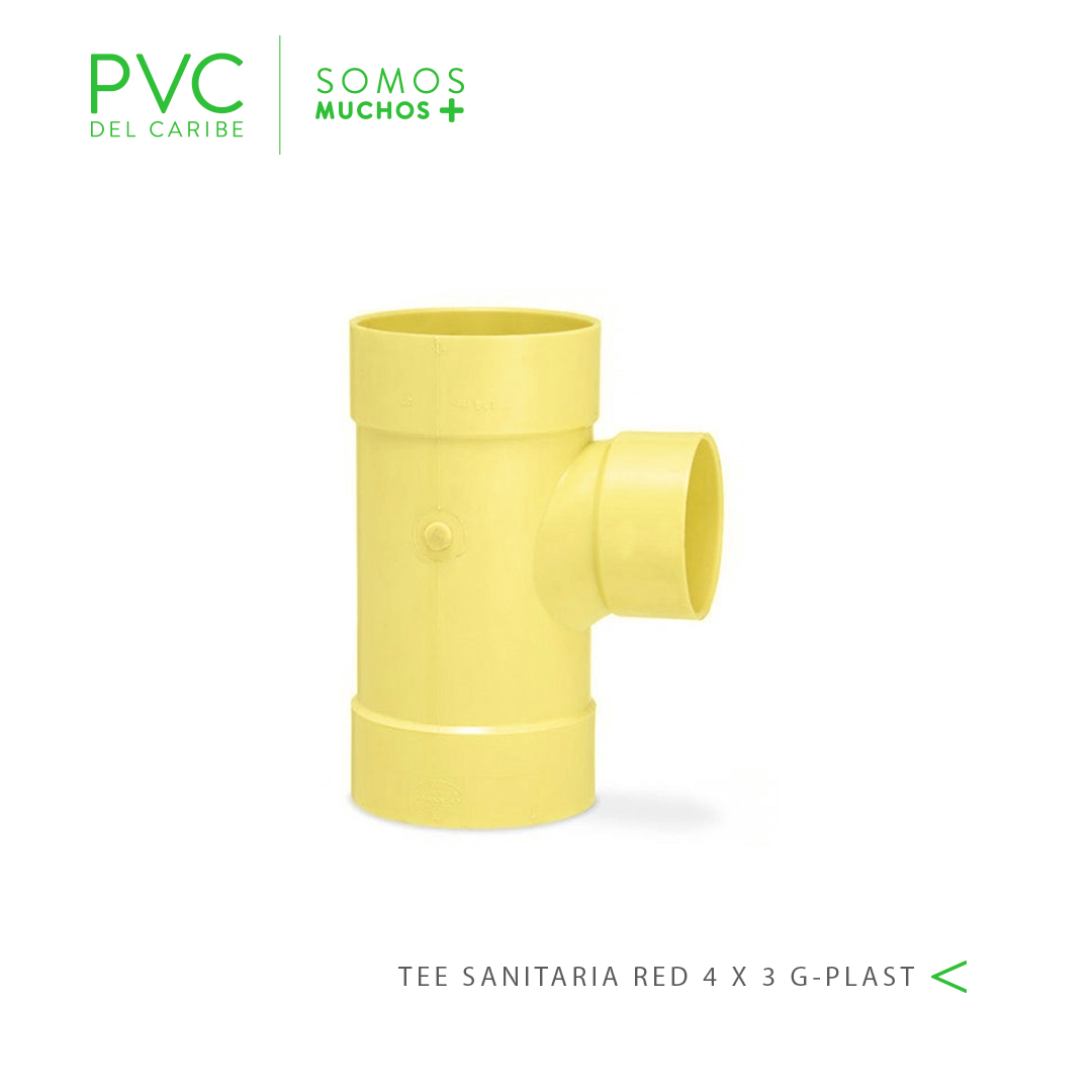 TEE SANITARIA RED 4 X 3 G-PLAST