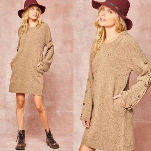 Fall beeeze knit sweater dress