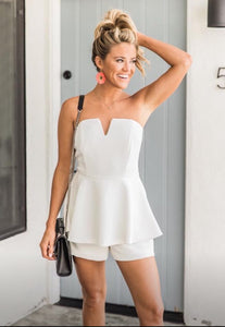 Adorable Strapless Romper