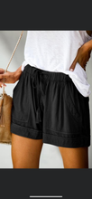 Load image into Gallery viewer, Stay cozy shorts black