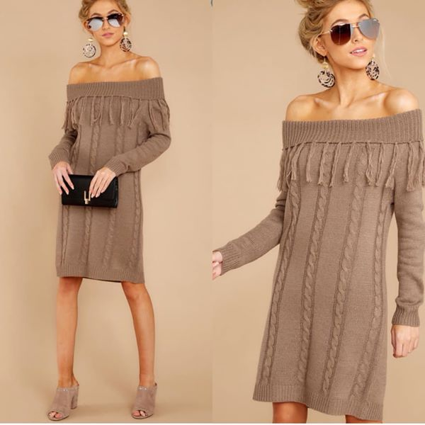 Tassel Sweater Dress