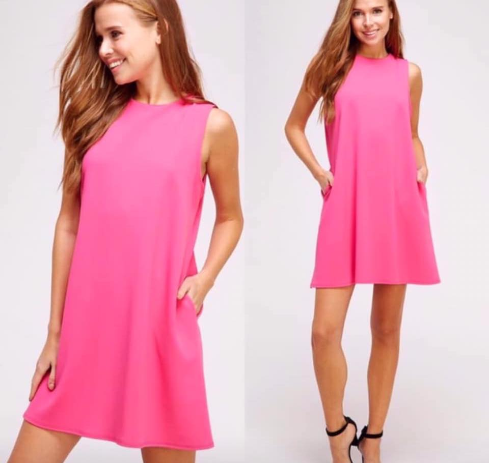 Pink not so basic dress