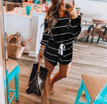 Load image into Gallery viewer, Blogger striped romper