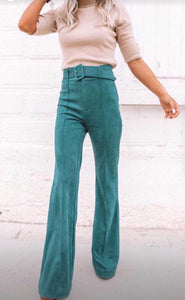 Teal high waisted pants