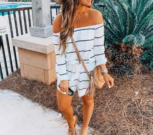 Blogger striped romper