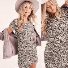 Load image into Gallery viewer, Leopars tee dress