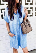 Load image into Gallery viewer, Santa Fe Denim Dress