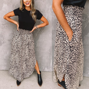 Tatum Animal print maxi skirt