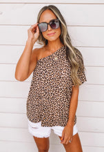 Load image into Gallery viewer, Cheetah one shoulder top