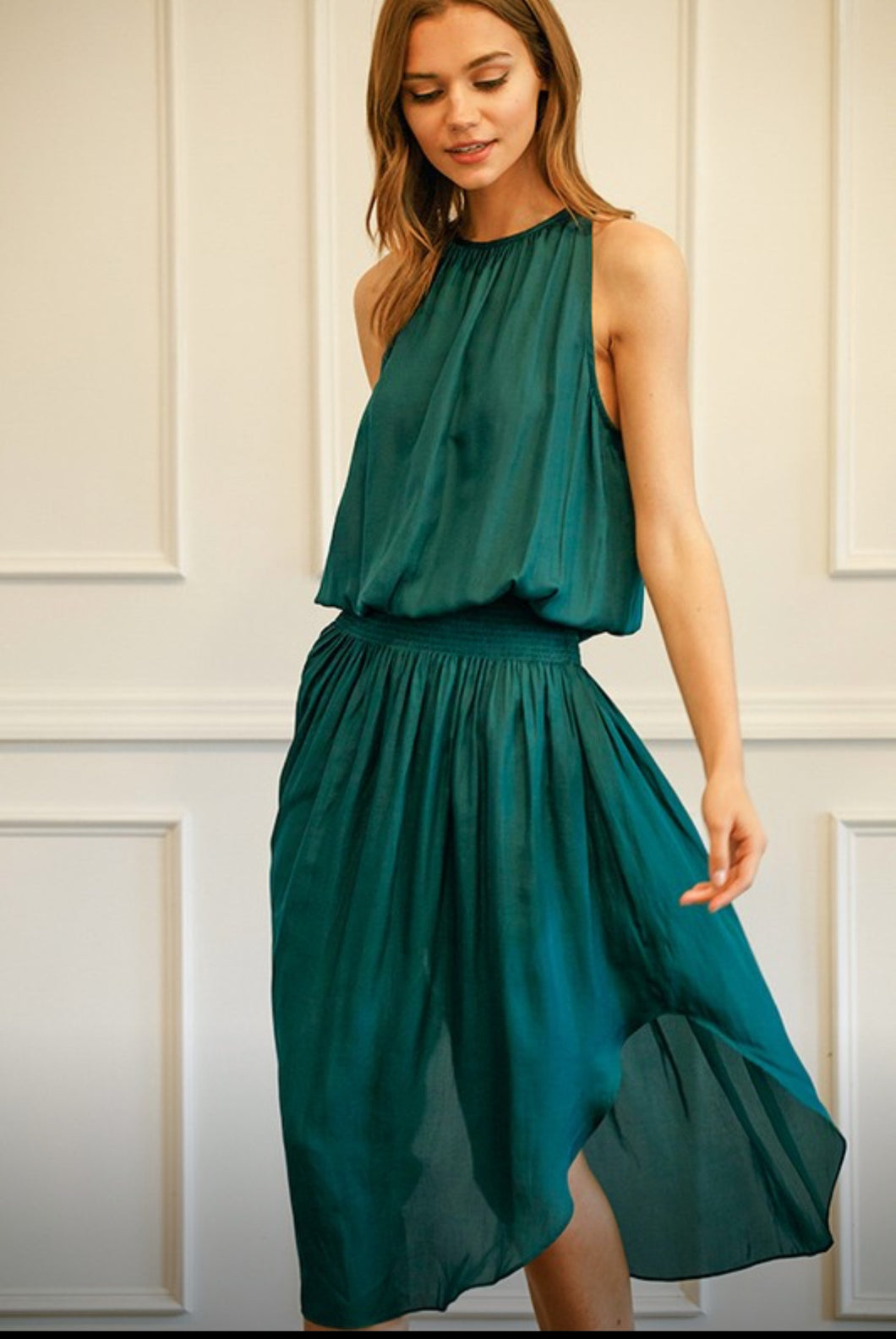 Falling for you emerald dress