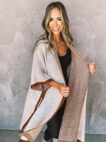 Aspen Two Toned Poncho