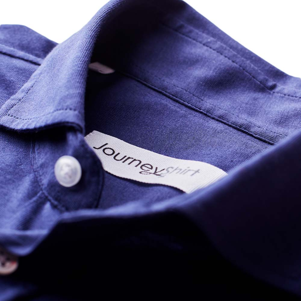 Navy knitted overhemd - Journey Shirt