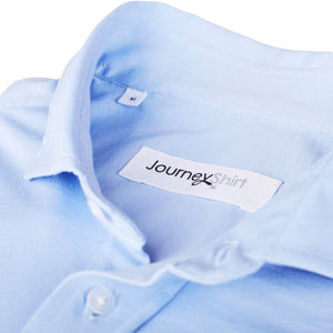 Lichtblauw knitted overhemd - Journey Shirt