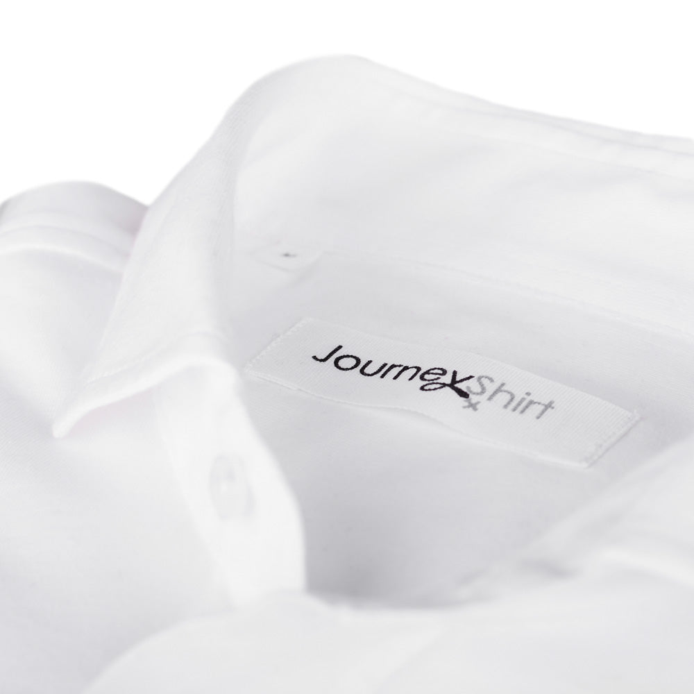 Wit knitted overhemd - Journey Shirt