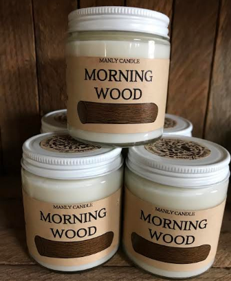 Soy candles: morning wood
