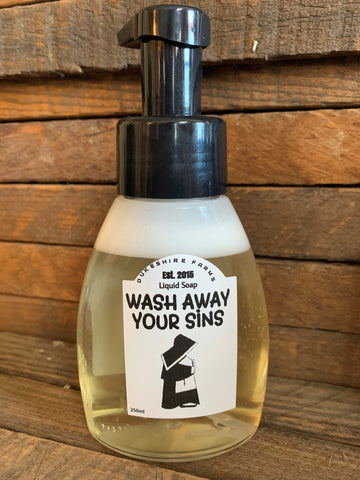 Wash away your sins liquid soap