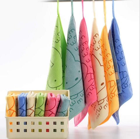 Microfiber Kitchen Cleaning Small Square Towel Bathroom & car