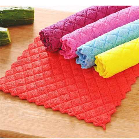 Anti-grease Color fiber washing magic towel